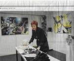 Rianne Vermeulen aan het werk in haar atelier. Foto: Ronald Goedheer.
